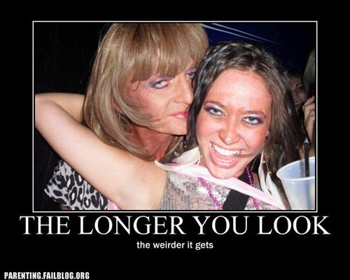mother and daughter the longer you look the weirder it gets too much makeup - 6180956928