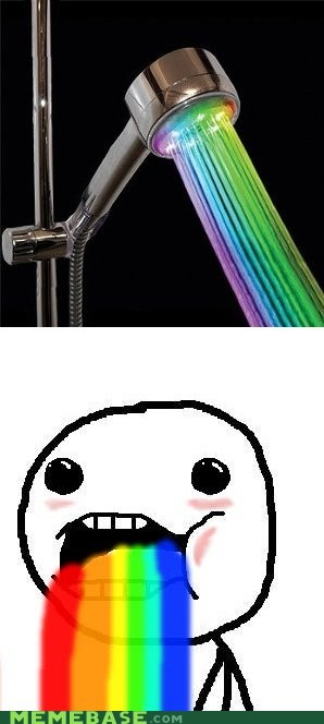 rainbows,colors,shower,puking rainbows