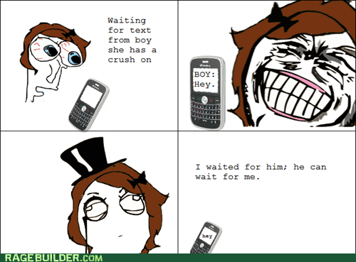 crush Rage Comics relationships texting women