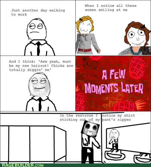 bathroom,embarassing,girls,guys,Rage Comics,Sad,zipper