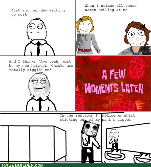 bathroom embarassing girls guys Rage Comics Sad zipper - 6181341952