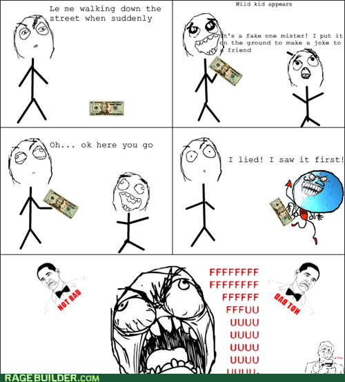 fake,found money,i lied,kid,money,Rage Comics