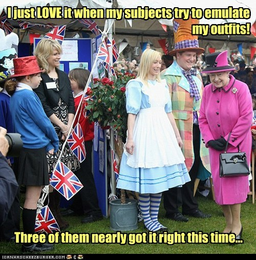 alice in wonderland political pictures Queen Elizabeth II - 6181360640