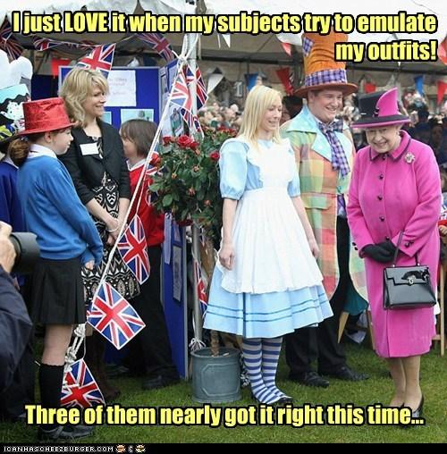 alice in wonderland political pictures Queen Elizabeth II