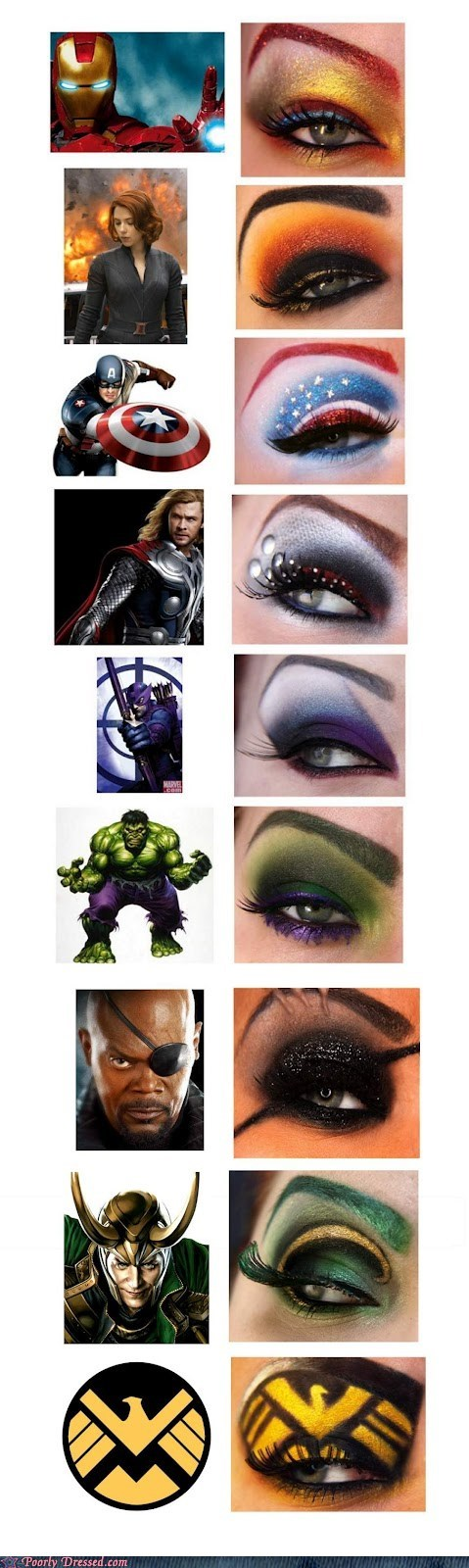 avengers,g rated,Hall of Fame,makeup,nerdgasm,Poorly Dresssed,super heroes