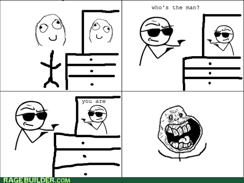 cool guy forever alone Rage Comics The Man - 6181383168