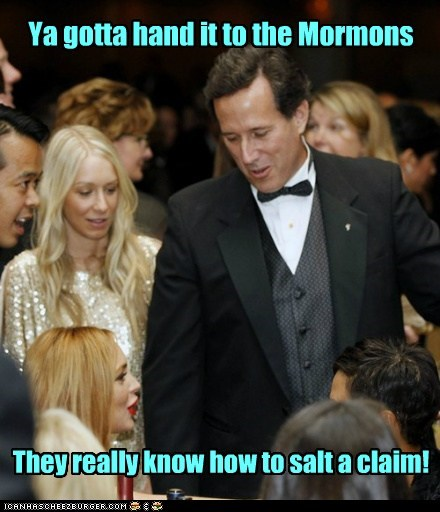 Ya gotta hand it to the Mormons They really know how to salt a claim!