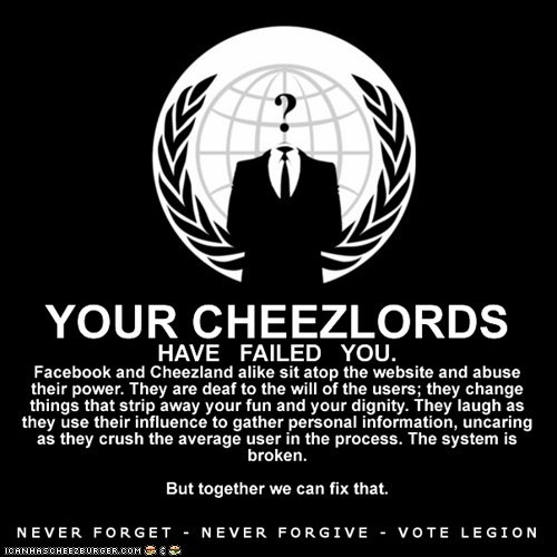 Your Cheezlords have failed you.