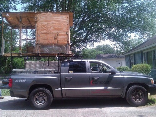 chicken coop comcast comcast truck truck xfinity - 6182242304