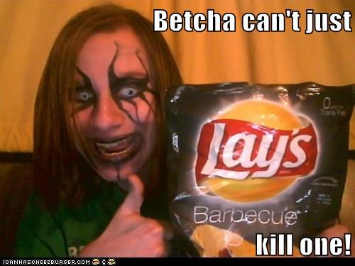 challenge denied,goth,Lays,make up,murder,weird kid