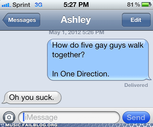 boy band gay jokes Hall of Fame iPhones one direction zing - 6182365184