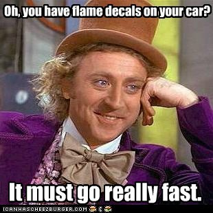 cars condescending wonka flame decals - 6182459392