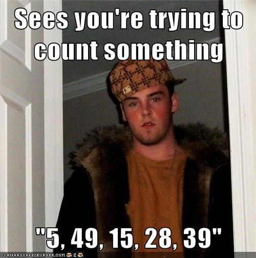 numbers Scumbag Steve counting - 6182471936