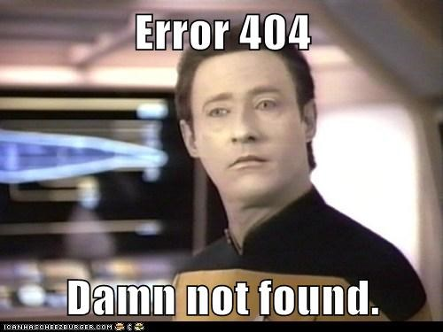 brent spiner damn data error 404 i-dont-give-a-damn not found Star Trek - 6182486016