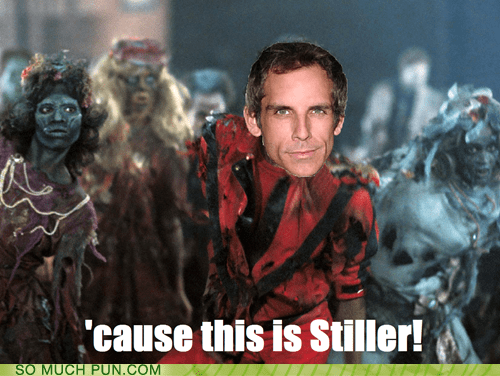 ben stiller literalism michael jackson music video shoop similar sounding stiller thriller zombie - 6182544896