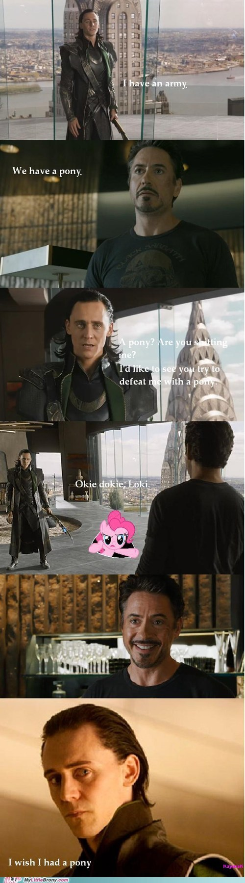 4th wall comics loki pinkie pie The Avengers - 6182679552