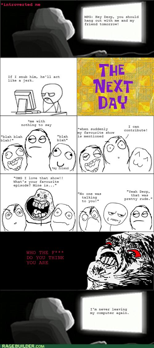 computer,forever alone,Rage Comics,raisin rage,socializing