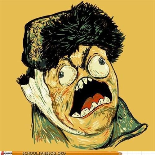 art history 318 rage faces Van Gogh - 6182856192