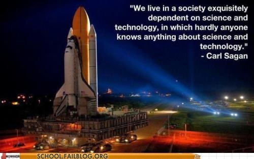 carl sagan,dependency,science and technology,Words Of Wisdom
