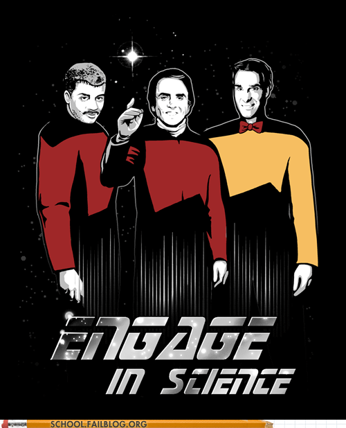 bill nye carl sagan Neil deGrasse Tyson Star Trek - 6182877440