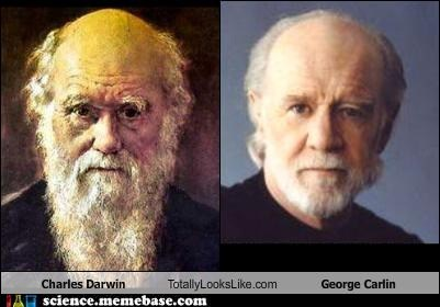 charles darwin,george carlin,MAD SCIENCE,totally looks like