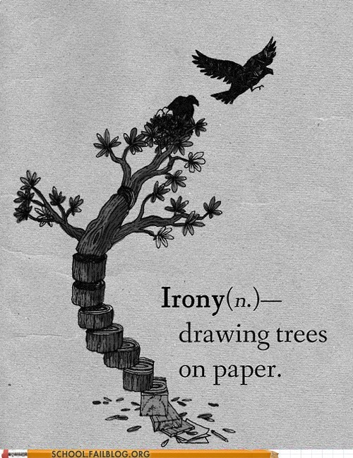 drawing trees irony paper trees on paper - 6182916096