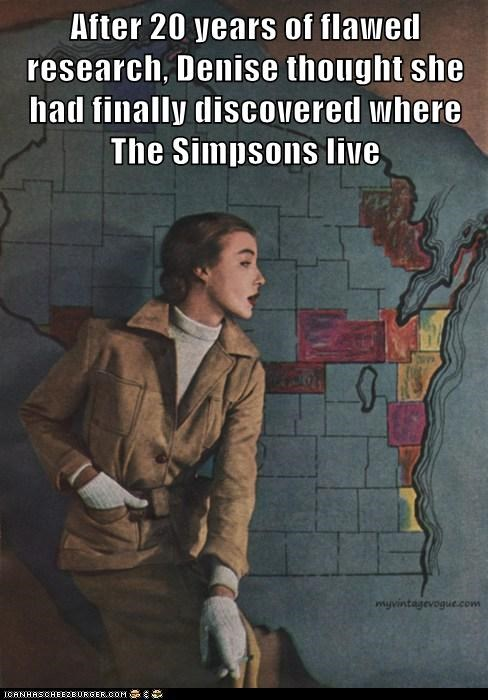 map,simpsons,wisconsin,woman