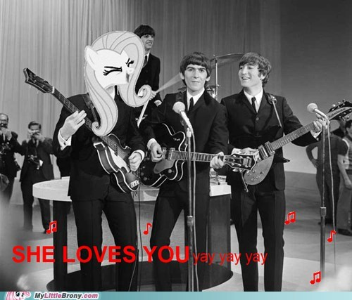 beatles crossover fluttershy yay - 6183220480