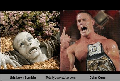 celeb,funny,john cena,lawn zombie,TLL