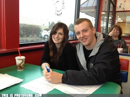 Awkward couple diner food tasty - 6183523072