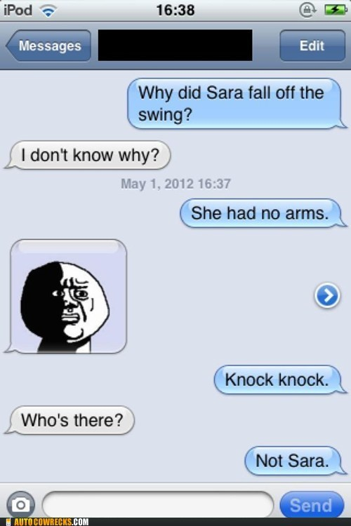 Hall of Fame iPhones knock knock no arms sara - 6183692288