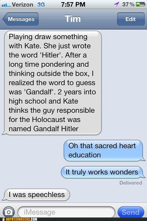 Catholic school gandalf gandalf hitler Hall of Fame hitler