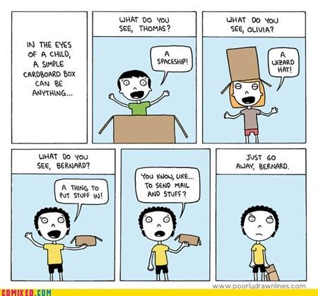 cardboard box,future,imagination,kids