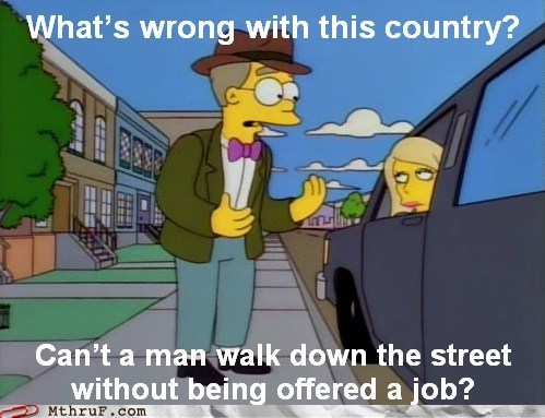job offer,jobs,smithers,the simpsons