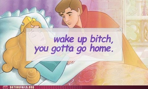 comic sans prince charming Sleeping Beauty you gotta go home - 6183861760
