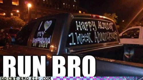 anniversary best of week bro crazy girlfriend run weird kid