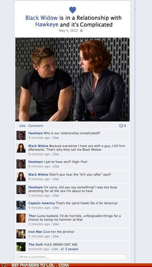 arguing,assemble,avengers,black widdow,facebook,hawkeye,iron man,Nick Fury,Samuel L Jackson,team,The Avengers