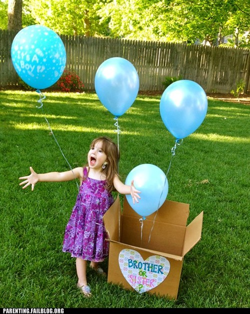 Balloons blue box brother or sister