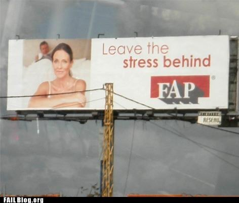billboard fap leave the stress behind - 6184135424