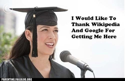 cap and gown,google,graduation,speech,wikipedia