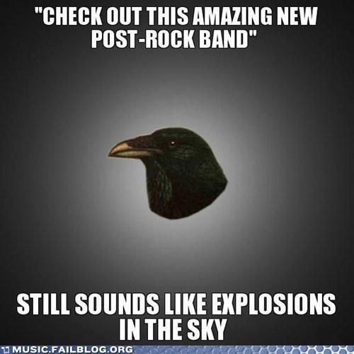 Explosions in the Sky meme post-rock post-rock raven - 6184239360