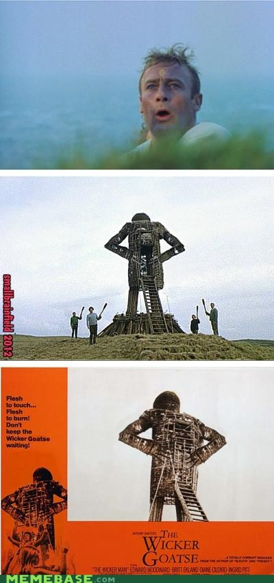 burned goatse Memes wicker man - 6184249088
