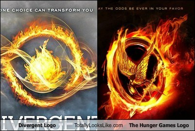 divergent funny logo Movie hunger games