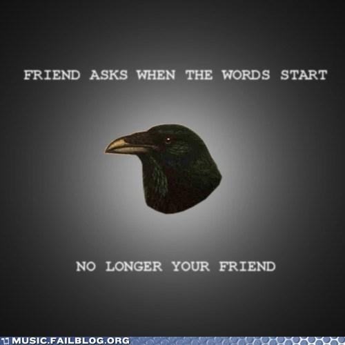 lyrics meme post-rock post-rock raven words - 6184276224