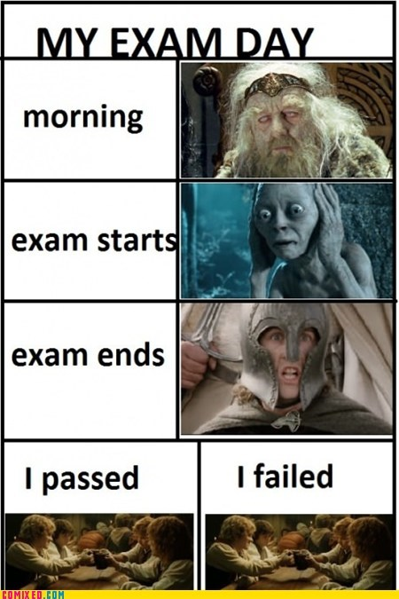 best of week,exams,finals,From the Movies,Lord of the Rings,school