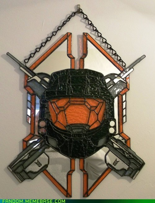Fan Art,halo,stained glass,video games