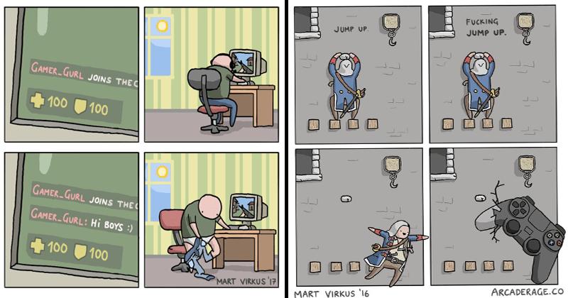 Funny gaming comics.