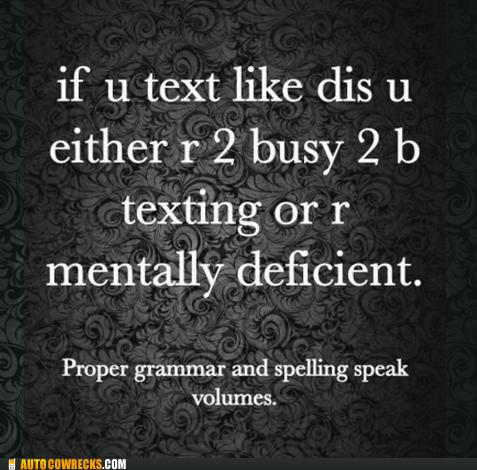 grammar Hall of Fame spelling texting textspeak - 6184465408