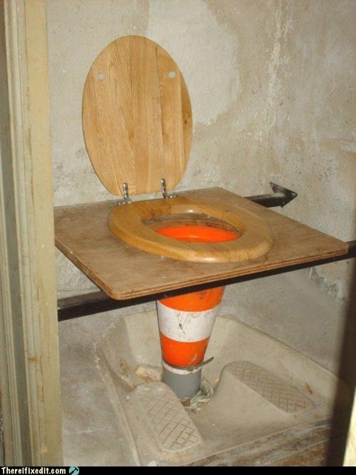 bathroom,Hall of Fame,honey bucket,outhouse,portapottie,restroom,toilet seat,traffic cone