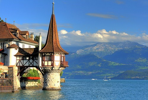 castle,lake,mountain,Switzerland